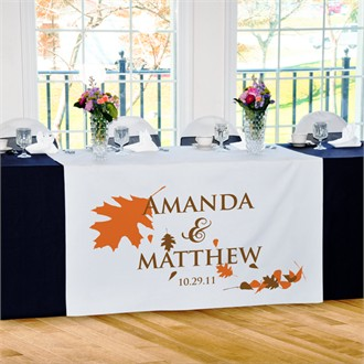 Fall Wedding Reception Table Runner