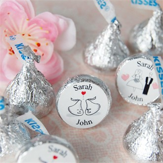 Personalized Hershey Kisses - Wedding Designs