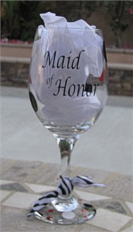 Personalized Maid of Honor Wine Glass