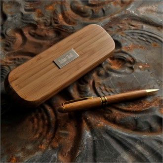 Bamboo Personalized Pen Set