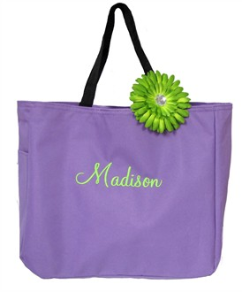 Personalized Tote Bag with Removable Daisy Clip