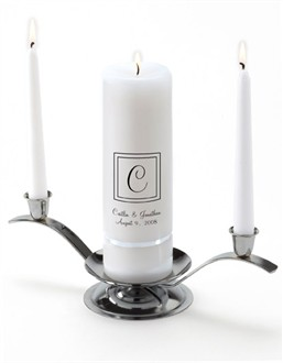 Elegant Monogram Premier Wedding Unity Candle Set
