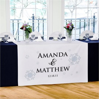 Winter Wedding Reception Table Runner