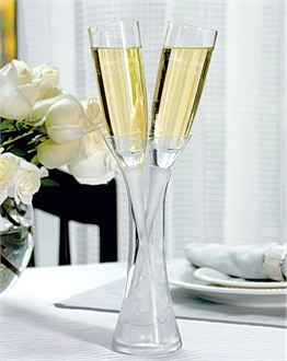 Personalized Toasting Flutes and Vase Set