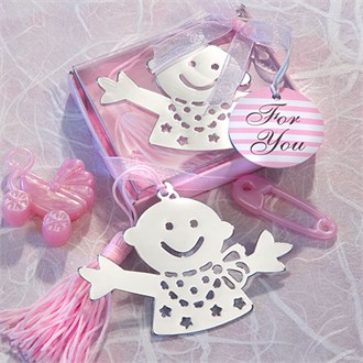 Baby Design Bookmark Favors - Pink-6502