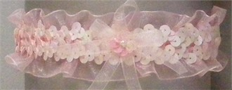 Pink Sequin Prom Garter