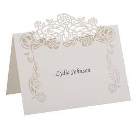 Set of 10 Rose Vine Place Cards