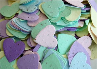 Heart Shaped Plantable Seed Confetti - Assorted Colors