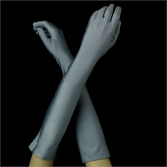 Matte Satin Platimum Gloves - Platinum Gloves in Matte Satin