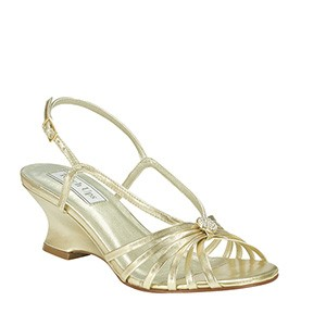Anastasia Gold Evening Shoes by Touch Ups