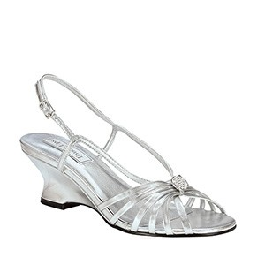 Anastasia Silver Evening Shoes by Touch Ups