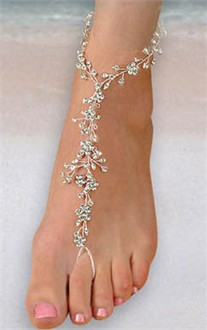 Rhinestone Foot Lace Jewelry - Rhinestone Foot Jewelry
