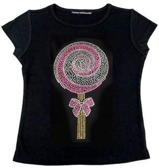 Rhinestone Girls Lollipop Shirt