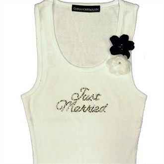 Rhinestone Wedding Party Tank Tops and T-Shirts with Orchid Flower Brooches