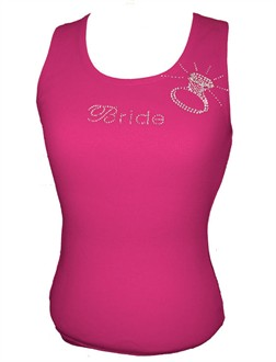 Crystal Bride Tank or Tee with Ring