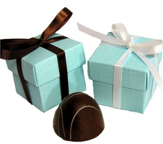 Tiffany Blue Wedding Favor Box
