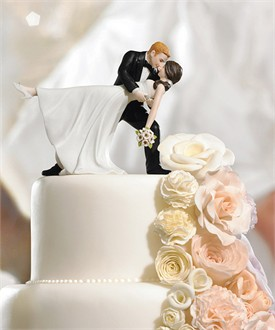 Romantic Dip Cake Topper - Hair Color Options
