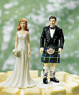 Scottish Groom in Kilt Cake Topper