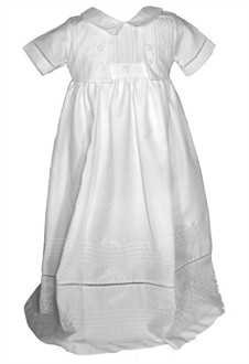 Silk Christening Gown and Romper Set