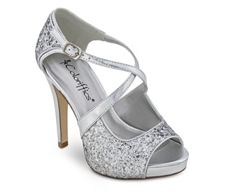 Silver Jessica Evening Shoes by Coloriffics