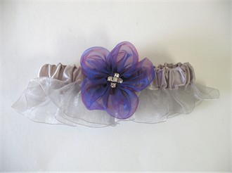 Silver Garter with Delphinium Flower