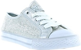 Silver Glitter Disco Girl's Shoes by Gotta Flurt