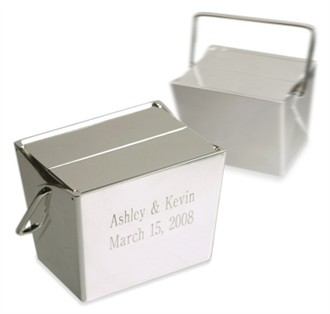 Silver Take Out Box