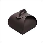 Single Truffle Black Favor Boxes