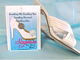 Modern Shoe Sixpence Card Gift