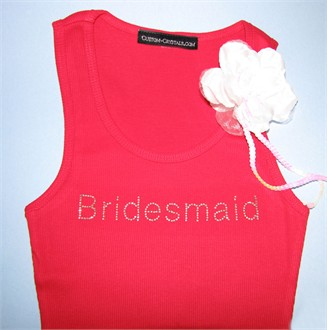 Iridescent Crystals Bridal Party Tank or T-Shirt