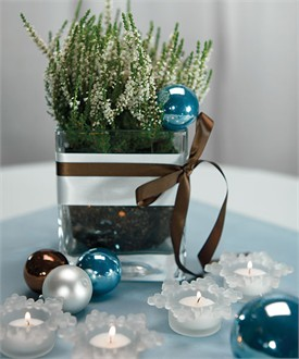 Snowflake Candle Holder Favors