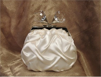 Sondra Roberts Pinched Satin Bridal Pouch - Four Colors!