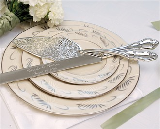 Silver Plated Cake Knife and Server Set
