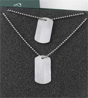 Set of Stainless Steel Dog Tags