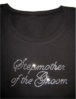 Stepmother of the Groom Crystal Tank - Stepmother of the Bride Rhinestone T-Shirt