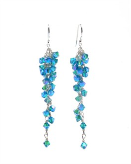 Swarovski Crystal Grapevine Earrings