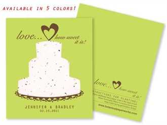 Sweet Love Plantable Seed Favors - In Bright Colors!