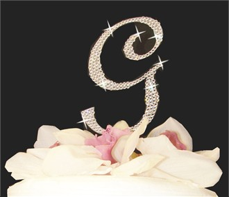 Large Crystal Wedding Cake Initial