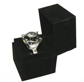 Small Diamond Engagement Ring Paperweight - Measures 1.5 Inches across!