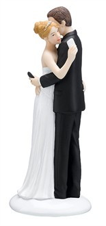Texting Bride and Groom Cake Topper