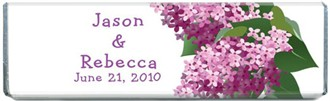 Personalized Lilac Flower Chocolate Bar Favors