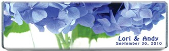 Hydrangea Flower Chocolate Bar Favors