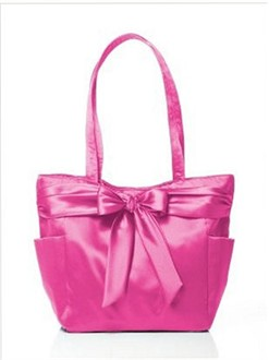 Fuchsia Bridesmaid Tote Bag by Dessy