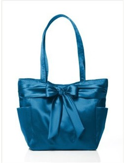 Ocean Blue Bridesmaid Tote Bag by Dessy