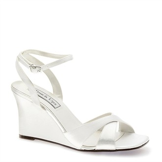 Madison Satin Wedge by Touch Ups Wedding Shoes