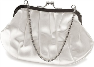 Donna Pleated Satin Bag With Chain Handle