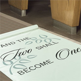 Two Shall Become One Aisle Runner - Wedding Aisle Runner