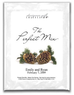 Two Pine Cones Personalized Cosmo or Margarita Mix Favors