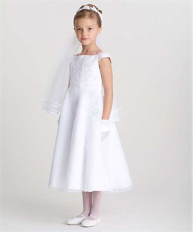 US Angels Flower Girl Dress - First Communion Dress 319