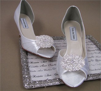 Kristie Ann Couture Victorian Lace Brooch Bridal Shoes